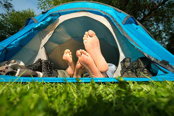 camping tent hanworth country park