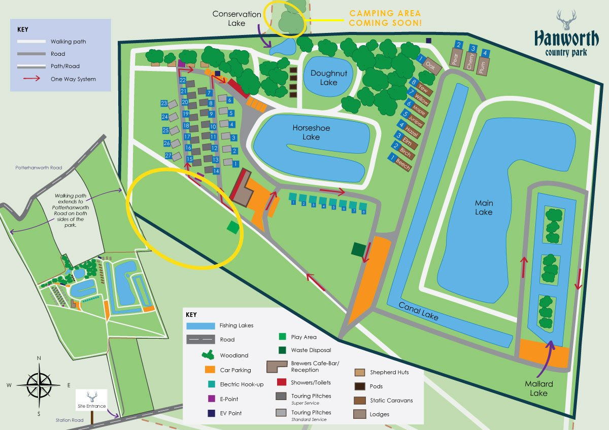 hanworth country park camping glamping site map lincolnshire